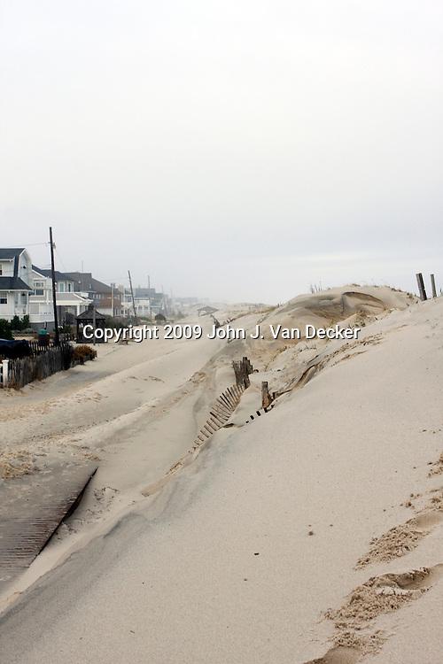 Hurricane Ida beach erosion, Lavalette, NJ. boardwalk