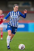Lea Le Garrec (Brighton & Hove) during the Brighton and Hove Albion Women vs Arsenal Women, FA WSL Cup at The People's Pension Stadium, Crawley, England on 3 November 2019.
