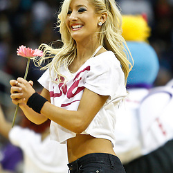 February 12, 2011; New Orleans, LA, USA; New Orleans Hornets Honeybees dancers perform during the third quarter of a game against the Chicago Bulls at the New Orleans Arena. The Bulls defeated the Hornets 97-88.  Mandatory Credit: Derick E. Hingle
