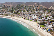 Aerial Stock Photo of Downtown Laguna Beach