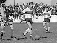 Syd Patterson, footballer, Glentoran FC, Belfast, N Ireland, November, 1969, 197001010012 <br /> <br /> Copyright Image from<br /> Victor Patterson<br /> 54 Dorchester Park<br /> Belfast, N Ireland, UK, <br /> BT9 6RJ<br /> <br /> t1: +44 28 90661296<br /> t2: +44 28 90022446<br /> m: +44 7802 353836<br /> e1: victorpatterson@me.com<br /> e2: victorpatterson@gmail.com<br /> <br /> www.victorpatterson.com