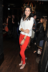 TV presenter LOUISE COLE at the launch of the Johnnie Walker Blue Label Club held at The Scotch, Mason's Yard, London on 1st May 2012.