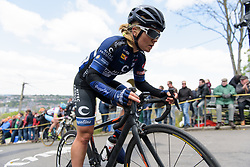 Emilie Moberg on the Mur de Huy at La Flèche Wallonne Femmes - a 120 km road race starting and finishing in Huy on April 19 2017 in Liège, Belgium.