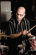 Rich Flamini on drums during the Sea Turtles reunion show at the Bus Stop Music Cafe in Pitman, NJ.