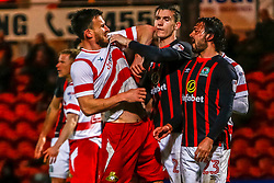 Doncaster Rovers and Blackburn Rovers have a tussle - Mandatory by-line: Ryan Crockett/JMP - 24/04/2018 - FOOTBALL - The Keepmoat Stadium - Doncaster, England - Doncaster Rovers v Blackburn Rovers - Sky Bet League One