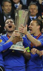 Chelsea players lift the trophy - Photo mandatory by-line: Joe Meredith/JMP - Tel: Mobile: 07966 386802 06/05/2013 - SPORT - FOOTBALL - EUROPA LEAGUE FINAL - Amsterdam Arena - Amsterdam - Benfica v Chelsea - Europa League Final
