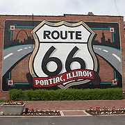 Historic U.S. Route 66 starts in Chicago traveling through 6 states and ending in Santa Monica, California.<br /> Photography by Jose More
