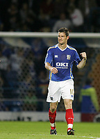 Photo: Lee Earle.<br /> Portsmouth v Leeds United. Carling Cup. 28/08/2007.David Nugent celebrates after scoring Portsmouth's third goal.