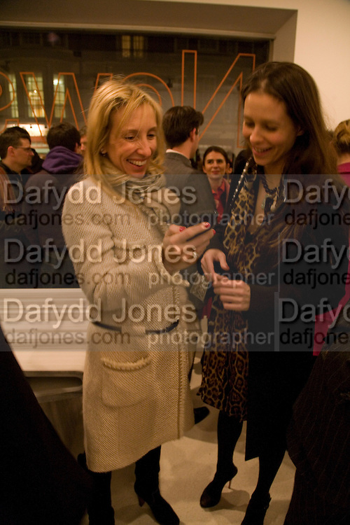 SAM TAYLOR WOOD, Exhibition of work by Marc Newson at the Gagosian Gallery, Davies st. London. afterwards at Mr. Chow, Knightsbridge. 5 March 2008.  *** Local Caption *** -DO NOT ARCHIVE-© Copyright Photograph by Dafydd Jones. 248 Clapham Rd. London SW9 0PZ. Tel 0207 820 0771. www.dafjones.com.