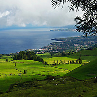 Europe, Portugal, Azores. Ponta Delgada landscape and coast.