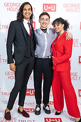 "© Licensed to London News Pictures. 26/10/2019. Salford, UK. Actor and Years & Years musician OLLY ALEXANDER and cast members from upcoming Russell T Davies drama "" Boys "" attend the George House Trust charity fundraising gala at the Lowry Hotel . The George House Trust provides support for those living with and affected by HIV . Photo credit: Joel Goodman/LNP"