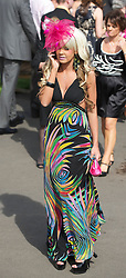 LIVERPOOL, ENGLAND - Friday, April 9, 2010: A female race-goer attend Ladies' Day during the second day of the Grand National Festival at Aintree Racecourse. (Pic by David Rawcliffe/Propaganda)
