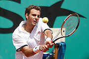 Roland Garros. Paris, France. June 1st 2007..2nd Round..Paul-Henri MATHIEU against Gilles SIMON.
