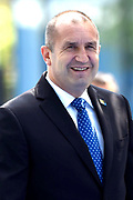 NAVO-bijeenkomst in Brussel. Tijdens de top wordt onder meer gesproken over gereedheid, inzetbaarheid en het verbeteren van de militaire mobiliteit in Europa.<br /> <br /> NATO meeting in Brussels. The summit discusses, among other things, readiness, employability and the improvement of military mobility in Europe.<br /> <br /> Op de foto / On the photo:  De premier van Bulgarije Bojko Borisov / The Prime Minister of Bulgaria Bojko Borisov