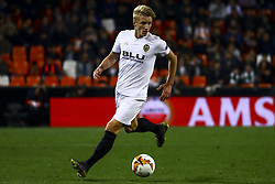 February 21, 2019 - Valencia, Spain - Daniel Wass of Valencia CF  during round of 32 Second leg of UEFA Europa league  match between Valencia CF vs Celtic at Mestalla Stadium on February 21, 2019. (Photo by Jose Miguel Fernandez/NurPhoto) (Credit Image: © Jose Miguel Fernandez/NurPhoto via ZUMA Press)