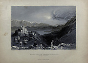Djabel Sheich and Mount Hermin [Hermon] from the top of Lebanon. From Volume 2 of Syria, the Holy Land, Asia Minor, &c. by Carne, John, 1789-1844; Illustrated by Bartlett, W. H. (William Henry), 1809-1854, and Allom, Thomas, 1804-1872 Published in London in 1837