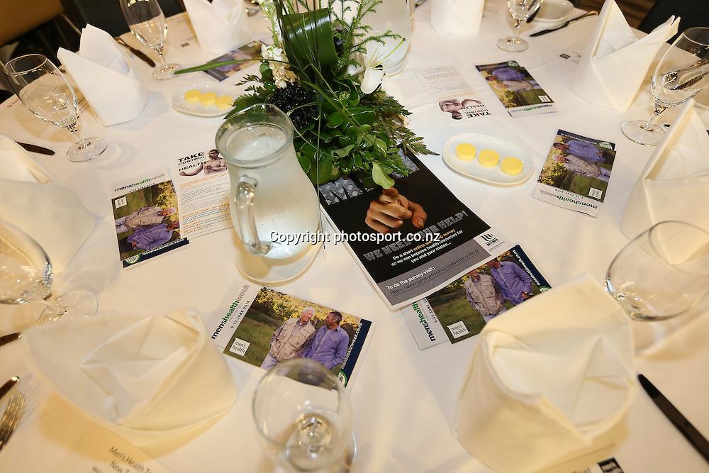 Men's Health Trust New Zealand annual Inspiring Stories Breakfast to kick off Men's Heath Week. Eden Park, Auckland. Monday, June 9, 2014. Photo: Fiona Goodall/photosport.co.nz
