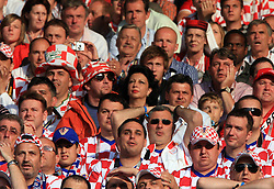 Fans of Croatia  and Austria during the UEFA EURO 2008 Group B soccer match between Austria and Croatia at Ernst-Happel Stadium, on June 8,2008, in Vienna, Austria.  (Photo by Vid Ponikvar / Sportal Images)