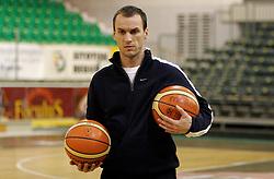 New  assistant coach of KK Union Olimpija Rade Mijanovic at first day of practice before Euroleague match vs AEK Athene, on November 30, 2005, Hala Tivoli, Ljubljana, Slovenia.  (Photo by Vid Ponikvar / Sportida)