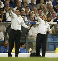 Photo: Aidan Ellis.<br /> Leeds United v Hartlepool United. Coca Cola League 1. 08/09/2007.<br /> Leeds Dennis Wise and Gustavo poyet