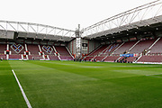 The players come out onto the pitch ahead of the U21 UEFA EUROPEAN CHAMPIONSHIPS match Scotland vs England at Tynecastle Stadium, Edinburgh, Scotland, Tuesday 16 October 2018.