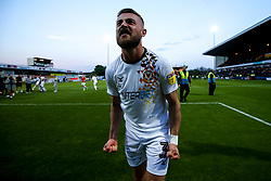 Dan Butler of Newport County celebrates winning through to the Sky Bet League Two Playoff Final - Mandatory by-line: Robbie Stephenson/JMP - 12/05/2019 - FOOTBALL - One Call Stadium - Mansfield, England - Mansfield Town v Newport County - Sky Bet League Two Play-Off Semi-Final 2nd Leg