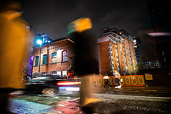 "© Licensed to London News Pictures . 13/12/2019 . Manchester , UK . GV of Montana House (right) and FAC251 nightclub (left) (also known as "" The Factory "") on Princess Street in Manchester City Centre . Sinaga was living in Montana House and committed many of his offences there . Reynhard Sinaga has been convicted of over a hundred serious sexual assaults , including the rape of dozens of young men whom he lured to his flat from outside nightclubs in Manchester City Centre , making him one of the most prolific sex offenders ever to have been tried and convicted . Photo credit : Joel Goodman/LNP"
