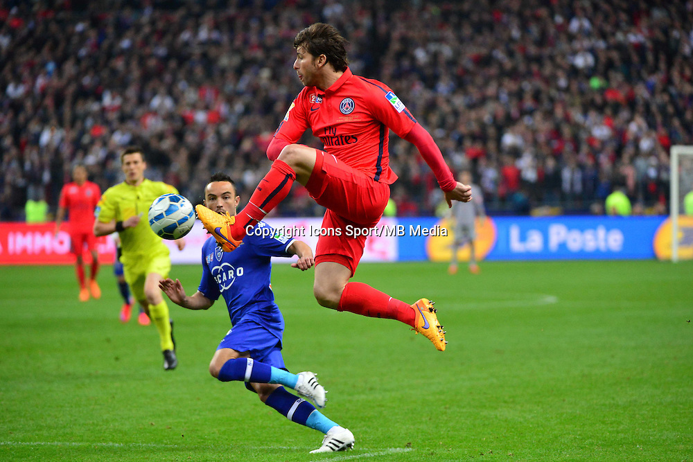 Sherrer MAXWELL / Gael DANIC    - 11.04.2015 -  Bastia / PSG - Finale de la Coupe de la Ligue 2015<br />Photo : Dave Winter / Icon Sport