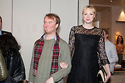 NATHANIEL MELLORS; GWENDOLINE CHRISTIE Ourhouse Nathaniel Mellors opening. ICA. The Mall. London. 8 March 2011. -DO NOT ARCHIVE-© Copyright Photograph by Dafydd Jones. 248 Clapham Rd. London SW9 0PZ. Tel 0207 820 0771. www.dafjones.com.