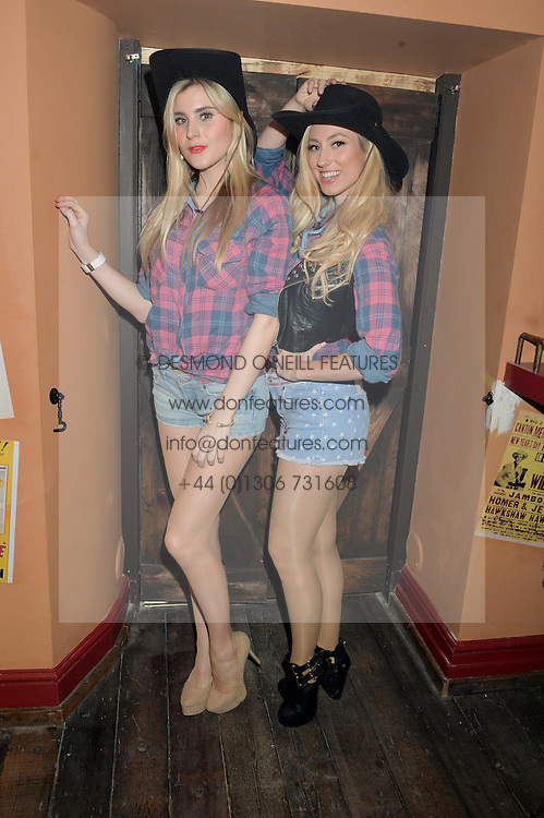Left to right, CHLOE OTHEN and DANIELLE LATIMER at a party to celebrate the opening of Beaver Lodge, a new bar & club from the Inception Group at 266 Fulham Road, London SW10 on 4th December 2014.