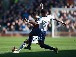 Jack Cork of Burnley (L) and Serge Aurier of Tottenham Hotspur in action - Mandatory by-line: Jack Phillips/JMP - 23/02/2019 - FOOTBALL - Turf Moor - Burnley, England - Burnley v Tottenham Hotspur - English Premier League