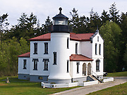 Admiralty Head Lighthouse was built 1890 to help guide ships into Puget Sound, and became obsolete in 1927 when its lantern was removed. Fort Casey State Park is part of Ebey's Landing National Historical Reserve, Whidbey Island, Washington, USA. Runnerup photo for Friends of Ebey's Landing National Historical Reserve in 2016.