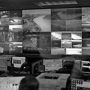 A U.S. Border Patrol facility in Laredo, Texas where agents monitor video surveillance of the U.S.-Mexico border..(Credit Image: © Louie Palu/ZUMA Press).June 2012