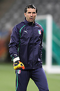 CAPE TOWN, SOUTH AFRICA - 13 JUNE 2010, Italian goalkeeper Gianluigi Buffon during Italy's training session held at the Cape Town Stadium. Italy play Paraguay in Match 11 of the 2010 FIFA World Cup on Monday 14 June 2010. Photo by: Shaun Roy/Sportzpics