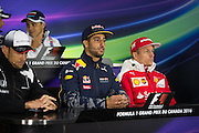 June 9-12, 2016: Canadian Grand Prix. FIA Driver's press conference Daniel Ricciardo and Kimi Raikkonen
