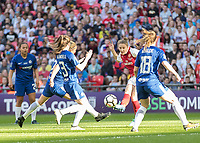 Football - SSE Women's FA Cup Final - Arsenal Women vs. Chelsea Ladies<br /> <br /> Louise Quinn (Arsenal Women FC) attempts a shot at the Chelsea Ladies goal at Wembley Stadium.<br /> <br /> COLORSPORT/DANIEL BEARHAM
