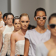 NEW YORK, NY - SEPTEMBER 06:  Models walk down the runway during the Amir Taghi fashion show at Helen Mills Event Space on September 6, 2014 in New York City.  (Photo by Fernando Leon/Getty Images)