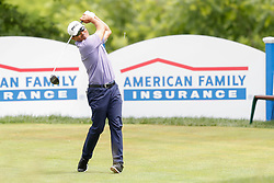 June 22, 2018 - Madison, WI, U.S. - MADISON, WI - JUNE 22: Ken Tanigawa tees off on the eighteenth tee during the American Family Insurance Championship Champions Tour golf tournament on June 22, 2018 at University Ridge Golf Course in Madison, WI. (Photo by Lawrence Iles/Icon Sportswire) (Credit Image: © Lawrence Iles/Icon SMI via ZUMA Press)