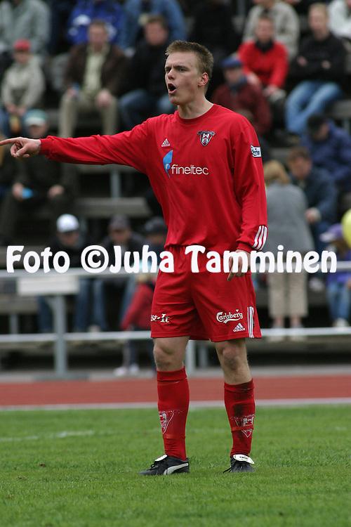 15.05.2004, Vuosaari, Helsinki, Finland..I Divisioona 2004 / Finnish 1st Division 2004.FC Viikingit v Kuopion Palloseura.Teemu Kankkunen - Viikingit.©Juha Tamminen