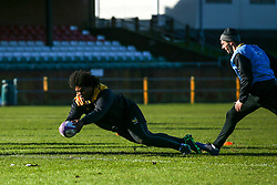 Ashley Johnson of Wasps during training ahead of the European Challenge Cup fixture against SU Agen - Mandatory by-line: Robbie Stephenson/JMP - 18/11/2019 - RUGBY - Broadstreet Rugby Football Club - Coventry , Warwickshire - Wasps Training Session