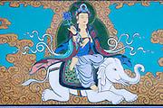 Jinjuseong castle. Buddha riding on elephant.