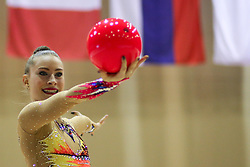 Spela Kratochwill of Slovenia competes during 28th MTM - International tournament in rhythmic gymnastics Ljubljana, on April 4, 2015 in Arena Krim, Ljubljana, Slovenia. Photo by Matic Klansek Velej / Sportida