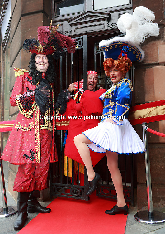 Edinburgh, UK. 17th September. King's Panto legends Allan Stewart, Andy Gray and Grant Stott launch Peter Pan and celebrate the reopening of the King's Theatre Box Office. Edinburgh.<br /> <br /> Photos by Pako Mera