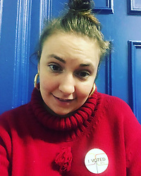 """Lena Dunham releases a photo on Instagram with the following caption: """"When I vote, I feel powerful and like the lady I was meant to be. That\u2019s special and rare. Thanks for the natural high, America \ud83c\uddfa\ud83c\uddf8 \ud83d\uddf3 \ud83c\uddfa\ud83c\uddf8"""". Photo Credit: Instagram *** No USA Distribution *** For Editorial Use Only *** Not to be Published in Books or Photo Books ***  Please note: Fees charged by the agency are for the agency's services only, and do not, nor are they intended to, convey to the user any ownership of Copyright or License in the material. The agency does not claim any ownership including but not limited to Copyright or License in the attached material. By publishing this material you expressly agree to indemnify and to hold the agency and its directors, shareholders and employees harmless from any loss, claims, damages, demands, expenses (including legal fees), or any causes of action or allegation against the agency arising out of or connected in any way with publication of the material."""