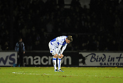 Dejected Joe Partington of Bristol Rovers after the defeat  - Mandatory by-line: Neil Brookman/JMP - 23/12/2017 - FOOTBALL - Memorial Stadium - Bristol, England - Bristol Rovers v Doncaster Rovers - Sky Bet League One