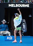 ANGELIQUE KERBER (GER) winkt und verabschiedet sich vom Publikum<br /> <br /> Tennis - Australian Open 2018 - Grand Slam / ATP / WTA -  Melbourne  Park - Melbourne - Victoria - Australia  - 25 January 2018.
