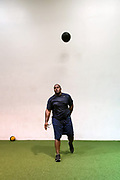 Los Angeles Chargers DT Brandon Mebane working out with HOP Training.<br /> <br /> Photo: Alika Jenner
