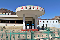 THEMENBILD - Die Demokratische Volksrepublik Korea. Democratic People's Republic of Korea (DPRK), bekannt als Nordkorea, ist ein Staat in Ostasien. Er wurde am 9. September 1948 proklamiert und umfasst den nördlichen Teil der Koreanischen Halbinsel. Nordkorea, obwohl offiziell als Demokratische Volksrepublik bezeichnet, wird diktatorisch regiert und gilt als das weltweit restriktivste politische System der Gegenwart. Hier im Bild Tankstelle // North Korea, officially the Democratic People's Republic of Korea (abbreviated DPRK), is a country in East Asia constituting the northern part of the Korean Peninsula. Pyongyang is the nation's capital and largest city. To the north and northwest, the country is bordered by China and by Russia along the Amnok (known as the Yalu in China) and Tumen rivers it is bordered to the south by South Korea, with the heavily fortified Korean Demilitarized Zone (DMZ) separating the two. Nevertheless, North Korea, like its southern counterpart, claims to be the legitimate government of the entire peninsula. EXPA Pictures © 2018, PhotoCredit: EXPA/ MMO