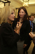 Joanna Lumley and ' Kate Westbrook' The Moneypenny diaries book launch. Smythson, 40 New Bond St. London.  4 October 2005. . ONE TIME USE ONLY - DO NOT ARCHIVE © Copyright Photograph by Dafydd Jones 66 Stockwell Park Rd. London SW9 0DA Tel 020 7733 0108 www.dafjones.com