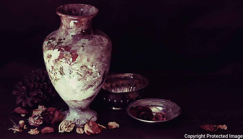Eleanor's grandmother made the vase used in this brown-themed still life